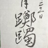 五月躑躅と篆刻