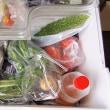 冷蔵庫に野菜がいっぱい/病気見舞いにいただいたものです