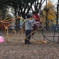 青葉台公園の親子