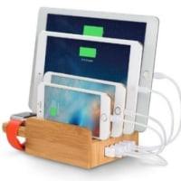 同時に複数のスマホ/タブレットを充電できるUSB充電ステーション