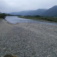 今朝の千曲川