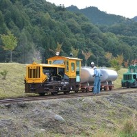 10月9日撮影 王滝森林鉄道フェステバル その10 No.84号機が牽くタンク列車