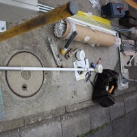 相模原市・民間企業による地域防災貢献。深さ30m(水面27m程度)から揚水する手押しポンプ。レインワールド号を取り付けました #手押しポンプ