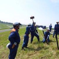 二組合合同の水防訓練が実施されました。