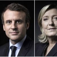 仏大統領選、マクロン氏とルペン氏が決選投票へ = 公共TV予測