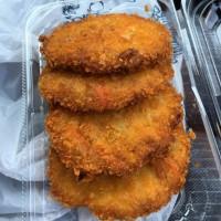 魚ロッケ(ギョロッケ)、まふぐ寿司、サバ寿司