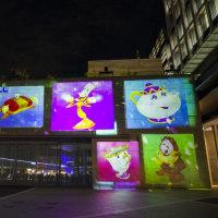 二子玉川ライズ Disney CRYSTAL MAGICプロジェクションマッピング