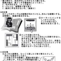 版画印刷の指示