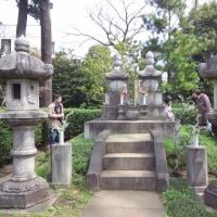 勝海舟夫妻のお墓と西郷隆盛の留魂祠