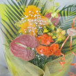 黄色・オレンジ系の花束