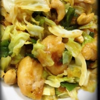 鶏肉とカシューナッツの野菜炒め♡