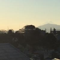 元旦に一句、富士の背が伸びる元旦の夕陽かな