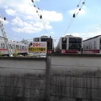 走っている電車の撮影は難しいので