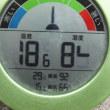 平成29年7月25日・今朝の東祖谷15.9℃