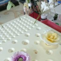 シュガーフラワー制作 スカビオサ 薔薇 ジャスミン(ひろみさんへのシュガーアートレッスン)