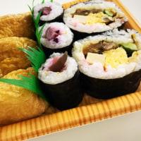 夜ご飯は、助六寿司