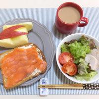 スモークサーモントーストの朝ごはんと 台湾旅行