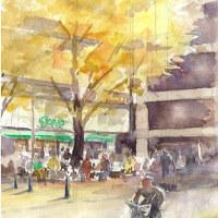 日本大通りの黄葉