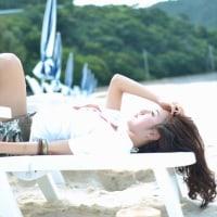 さくら@沖縄・渡嘉敷島-ビーチにはパラソル