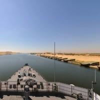 スエズ運河通過