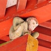 日吉大社西本宮楼門の「棟持ち猿」
