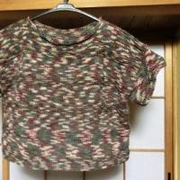 袖付きベストを編む