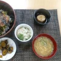 鶏肉のガリバタ―醤油焼き丼