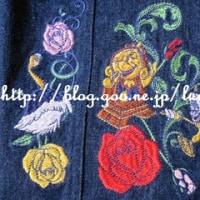 刺繍タイトスカート