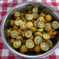 金柑の甘露煮を作りました