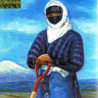 102.農婦の堆肥散らし立ち姿