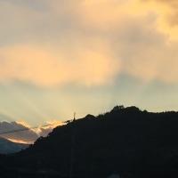 美しい 夕陽に 包まれて
