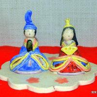 琉球大田焼窯元陶人形 ☆我が家のお雛様