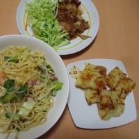 カルディの上海焼きそばの晩御飯