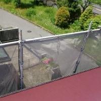 屋根塗装工事上塗り作業!