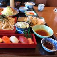 今日のお昼ご飯 野菜天ざる寿司セット