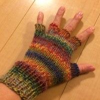 指なし手袋編んでみた