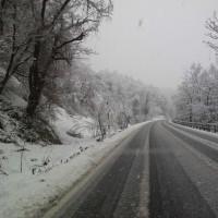 「なごり雪」が降る会津地方です( ..)