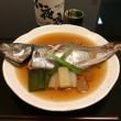 頼々軒厨房に入る:煮魚特訓中。