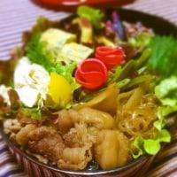 牛すき焼き風煮弁当♪