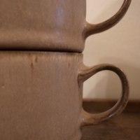 ● 茶釉スタッキングコーヒーカップ / 桑原哲夫さん