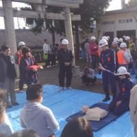 平成28年12月中野町内会防災訓練。