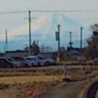 鴻巣市から見た富士山