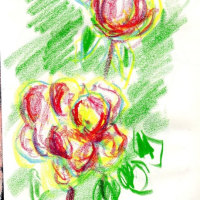 朝日記170520 新しい音楽絵画 五月のクロッキー と今日の絵 おはようございます。