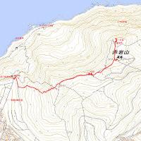 赤岩山のGPSトラック