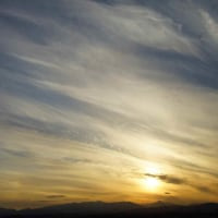 カメラ片手に 落日の夕景色