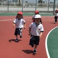 年少組☆はさみ制作&小学校の屋上へお散歩