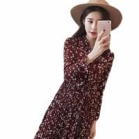 ビンテージ風 レディース ファッション  可愛いワンピース 花柄 長袖