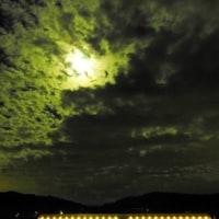 今宵の月と苺ハウス