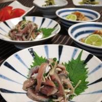 秋刀魚のナムルと小松菜のたいたの
