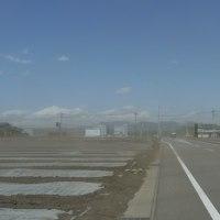 横野平の砂嵐!